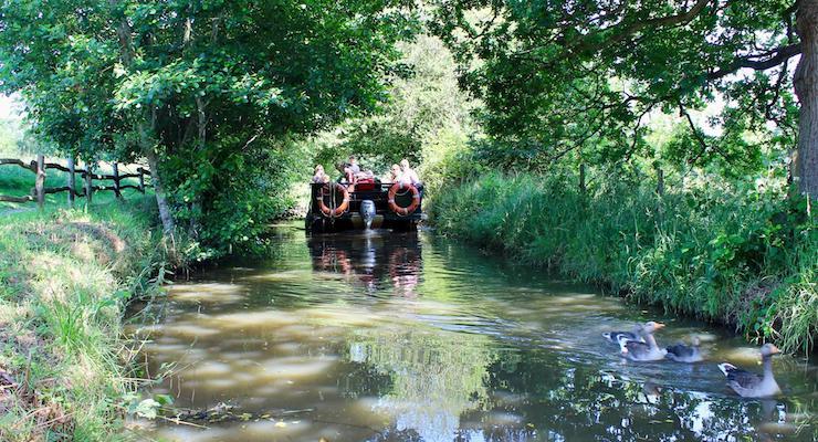 Boat ride, Groombridge Place, Kent. Copyright Gretta Schifano
