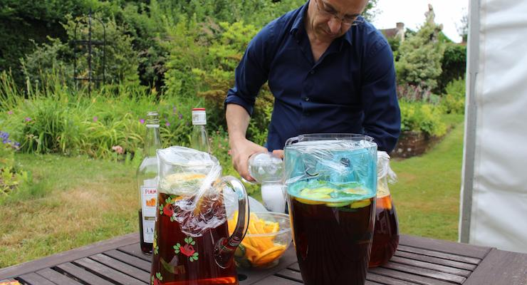 Preparing the Pimms. Copyright Gretta Schifano