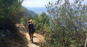 Walking from Levanto to Monterosso. Copyright Gretta Schifano
