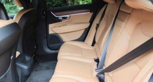 Back seats of Volvo V90 D5 Inscription. Copyright Gretta Schifano