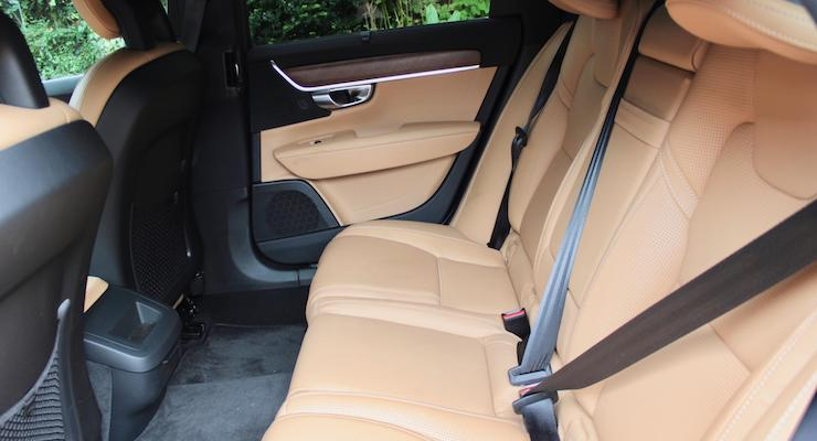 Back seats of Volvo V90 D5 Inscription. Copyright Gretta Schifano