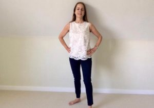 SimplyBe skinny jeans and shell top. Copyright Gretta Schifano