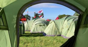 View from our tent at Rewind 2017. Copyright Gretta Schifano