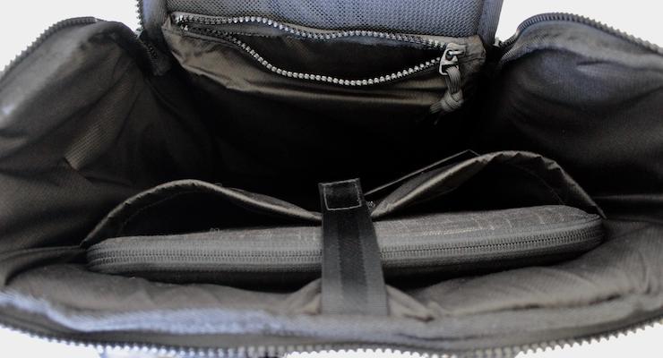 Booq Daypack interior with Mamba laptop sleeve. Copyright Gretta Schifano