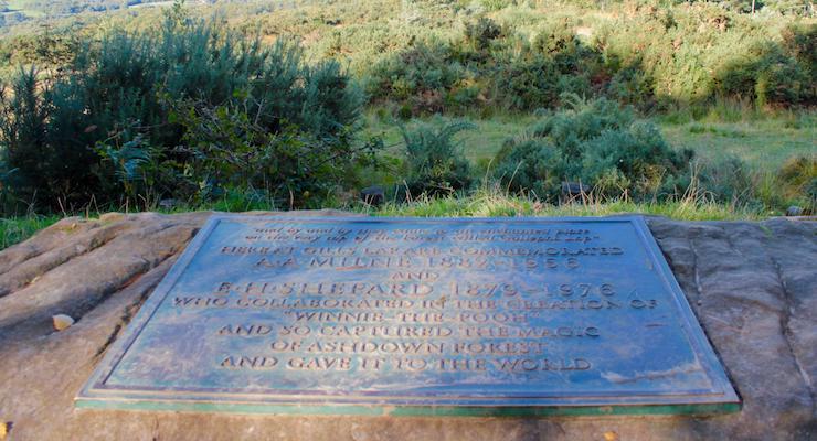 Milne & Shepard memorial, Ashdown Forest. Copyright Gretta Schifano