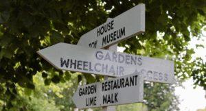 Signpost, Penshurst Place and Gardens. Copyright Gretta Schifano