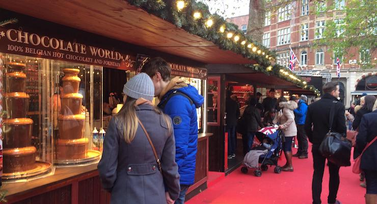 Christmas in Leicester Square, London. Copyright Gretta Schifano