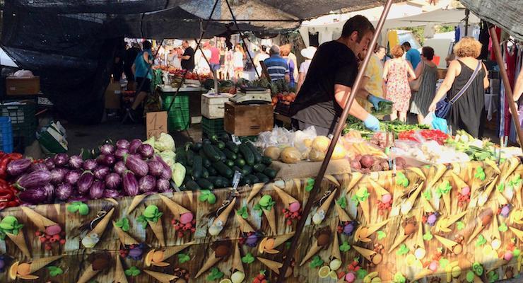 Sunday market, Cabo de Palos, Spain. Copyright Gretta Schifano
