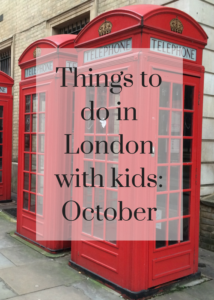 October is a great time for a family trip to London. There are loads of things to see and do in the city, especially as it's half term for school children, it's Halloween and also Diwali. Click through for details of the best quirky, interesting and fun things to do in London in October.