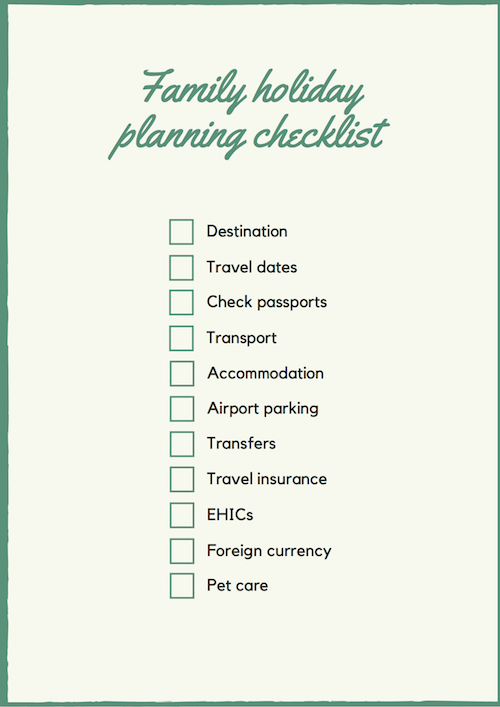 If you're planning to book an independent family trip, this checklist will help you to do that, Click through for the full travel checklist. #travel