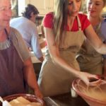 Making Greek pasta at a Messinian cooking class, Costa Navarino. Copyright Gretta Schifano