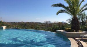 One of the pools, Costa Navarino. Copyright Gretta Schifano