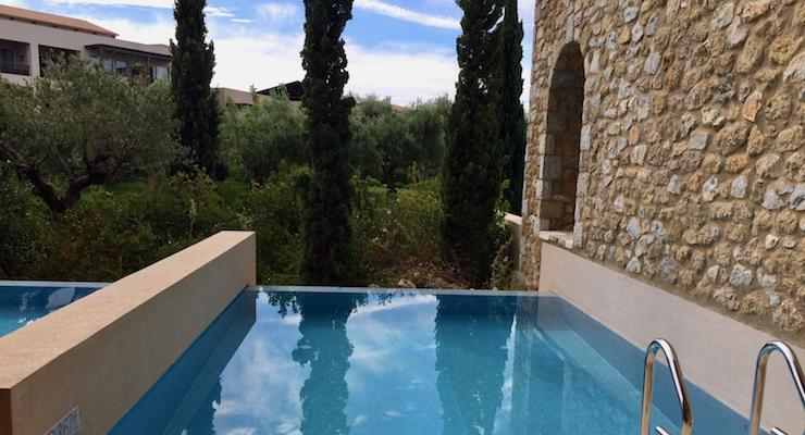 Private pool, Costa Navarino. Copyright Gretta Schifano