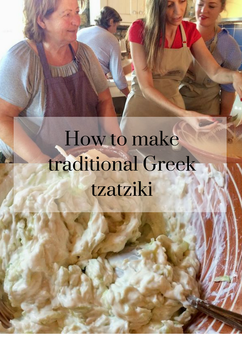 How to make traditional Greek tzatziki, according to locals in Messinia, Greece. Click through for the full recipe and instructions on how to make this classic mezze dish, from a Costa Navarino cookery class.