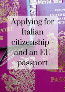 First-hand account of starting the application process for Italian citizenship and Italian EU passports for a British person married to an Italian, and for their adopted and birth children. Click through for details of how to start the process, including getting documents legalised and translated.