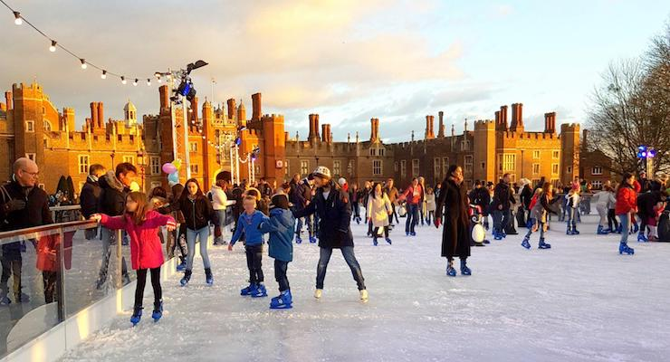 Hampton Court ice rink, copyright Cathy Winston Mummytravels.com