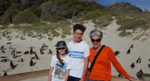 Lorenza Bacino and her kids at Simon's Town penguin colony, South Africa. Copyright Francis Rolt