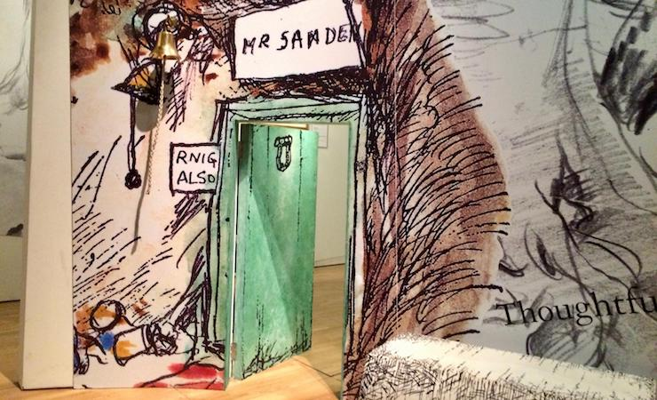 Owl's door, Winnie-the Pooh exhibition, V&A, London. Image copyright Gretta Schifano