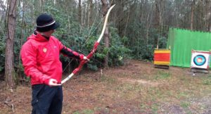 Sam of New Forest Activities teaching archery. Copyright Gretta Schifano