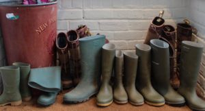Wellie boots to borrow, New Park Manor, New Forest. Copyright Gretta Schifano