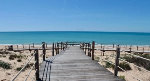 Boardwalk to beach, Vidamar Resort Hotel, Algarve, Portugal. Copyright Gretta Schifano