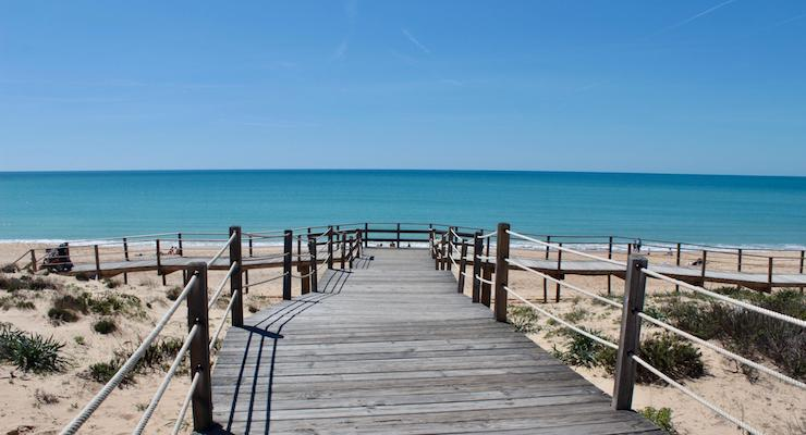 Boardwalk to beach, Vidamar Resort Hotel, Algarve, Portugal. Copyright Gretta Schifano