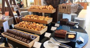 Breakfast pastries, Vidamar Resort Hotel, Algarve, Portugal. Copyright Gretta Schifano