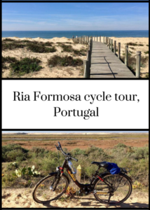 If you'd like to go cycling on Portugal's Algarve, the Ria Formosa nature reserve lagoon area is a good place to start. Click through for details of an excellent half-day guided cycle tour with MegaSport - definitely recommended!