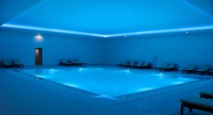 Indoor pool, Vidamar Resort Hotel, Algarve, Portugal. Copyright Gretta Schifano