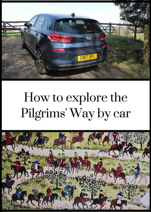 How to explore the ancient route of the Pilgrims' Way in England by car - from Winchester to Canterbury, passing through Hampshire, Surrey & Kent. Click through for details of how we did it in two days, where to stop off to learn about the history of this trail, as well as historic pilgrim churches and pubs. #HyundaiAdventures