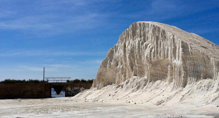 Salt mountain, Faro Island, Ria Formosa, Portugal. Copyright Gretta Schifano