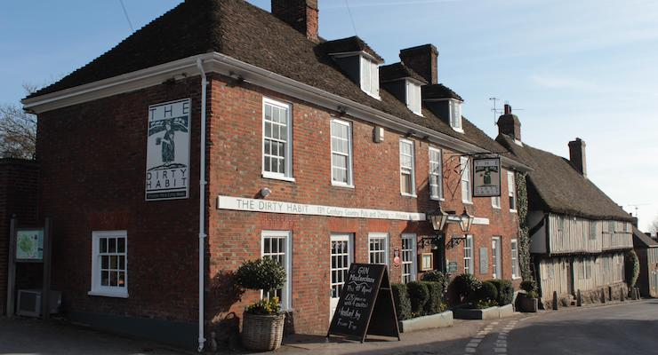 The Dirty Habit pub, Pilgrims' Way, Kent. Copyright Gretta Schifano
