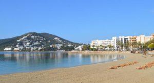 Platja De Santa Eularia, Santa Eulària des Riu, Ibiza. Copyright Petra Shepherd
