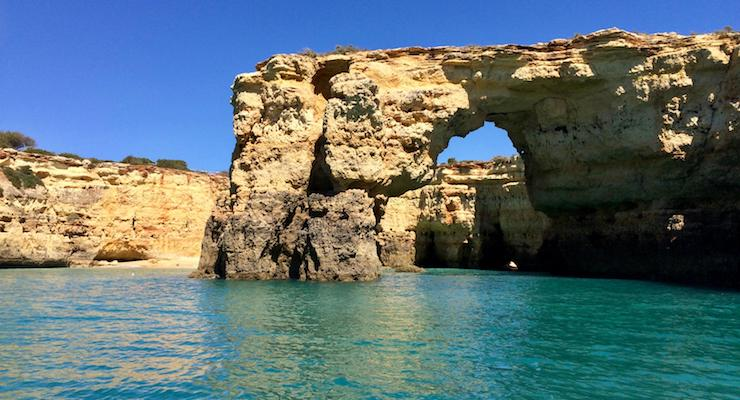 Caves & Dolphins boat tour, Algarve, Portugal. Copyright Gretta Schifano
