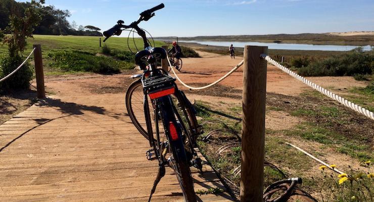 Cycling tour, Ria Formosa nature reserve, Algarve, Portugal. Copyright Gretta Schifano