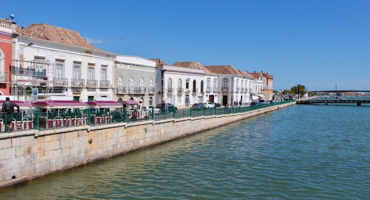 Riverside Tavira, Algarve, Portugal. Copyright Gretta Schifano