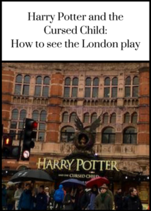 Advice on how to get tickets to see the two performances of Harry potter and the Cursed Child in London's West End, tips on where to go between shows - click through for full details and a review of the shows (without spoilers). #HarryPotter