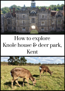 Historic Knole house and deer park, Kent, England, is a great place for a day out with or without kids. Run by the National Trust, the house is fascinating to explore. The medieval deer park is ideal for walks, picnics, and wildlife spotting. Click through for full details of what to see and do at Knole.