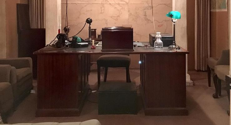 Churchill's study, Churchill War Rooms, London. Copyright Gretta Schifano
