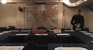 War Cabinet Room, Churchill War Rooms, London. Copyright Gretta Schifano