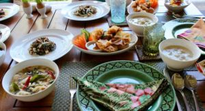 Five-course meal from Thai cooking class, The Tongsai Bay. Copyright Gretta Schifano