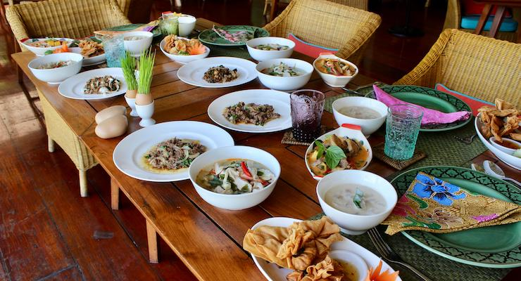 Five-course meal made at Thai cooking class, The Tongsai Bay. Copyright Gretta Schifano