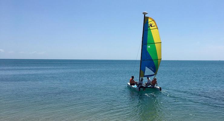 Sailing, The Tongsai Bay. Copyright Izzy Schifano