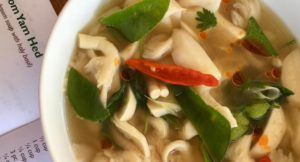 Spicy mushroom soup, Thai cooking class, The Tongsai Bay. Copyright Gretta Schifano