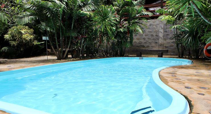 Swimming pool, Elephant Hills, Thailand. Copyright Gretta Schifano