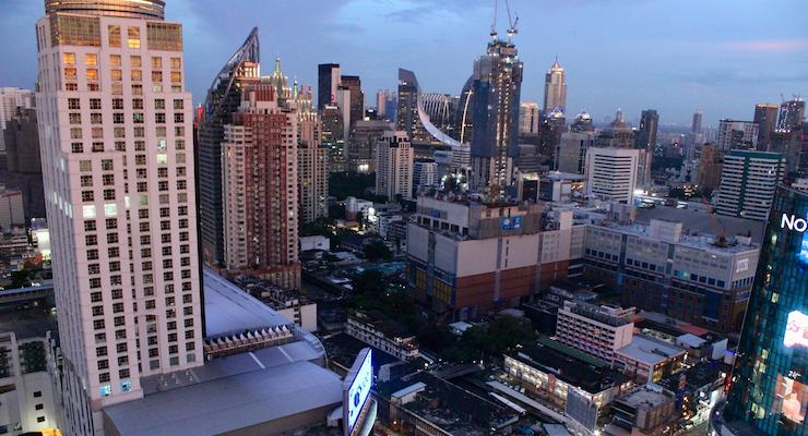 View from Amari Watergate Bangkok Executive Lounge. Copyright Gretta Schifano