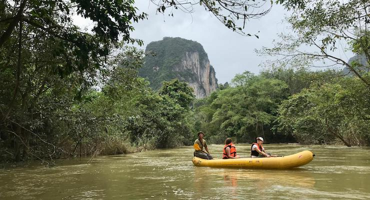 Canoeing with Elephant Hills, Sok River, Thailand. Copyright Sal Schifano