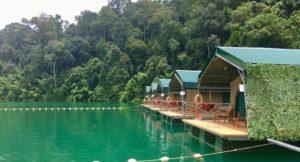Elephant Hills floating camp, Cheow Larn Lake, Thailand. Copyright Gretta Schifano