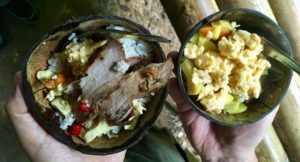 Lunch cooked in the jungle, Elephant Hills, Thailand. Copyright Gretta Schifano