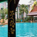 Novotel Bangkok Suvarnabhumi outdoor pool. Copyright Gretta Schifano